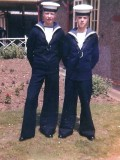 1965, PARENTS DAY - COLIN BLAIR AND IAN BROWN, FROBISHER, 30 MESS, WE BOTH BECAME ARMOURERS..jpg