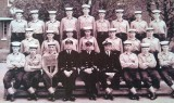 1966, 26TH APRIL - NEIL CARHART, 84 RECR., FROBISHER, 733 CLASS, I AM MID. ROW 2ND FROM LEFT, DO LT. GALLOWAY, CHIEF CK. CURTIS,
