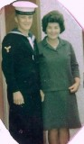 1966, AUG - JACK DUNFORD, 86 RECR., GRENVILLE, 24 MESS, LCW., 162 CLASS STOKERS, WITH MY MOTHER. B.jpg