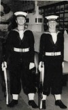 1966, 14TH NOVEMBER - JOHN McINTYRE, CinC's guard, myself and Frank McElhinney, USING SLRs..jpg