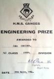 1963, 30TH APRIL - JOHN CORDINER, 58 RECR., ANSON, 19 MESS, 143 CLASS, ENGINEERING PRIZE.