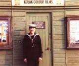 BRIAN MORETON - 1973, OUTSIDE FISKEY'S SHOP..jpg