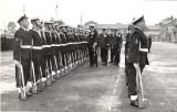 1961 - CHRIS SMITH, ROYAL GUARD PREPARING FOR HMs VISIT. WE ARE BEING INSPECTED BY 'AN ADMIRAL'