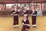 COLIN HUTCHINSON - 1972, 32 RECR., KEPPEL DIV. GUARD, SELF FRONT CENTRE WITH BREAD KNIFE..jpg