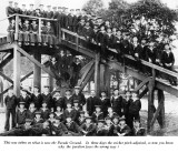 UNDATED - DICKIE DOYLE, SEE INFO BELOW PHOTO, THIS IS THE PLATFORM USED FOR SWINGING THE LEAD ETC.