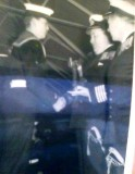 1965, APRIL - GRAHAM WEEDEN - CAPT. WATSON PRESENTING ME WITH MY SILVER BUGLE WITH CAPT. PLACE V.C. LOOKING ON..jpg