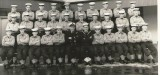 1959, 6TH JANUARY - A.G. BOOTY, AKA JAN SMITH, FROBISHER, 36 MESS, 157 CLASS., ANNEXE, I AM BOTTOM ROW 4TH FROM LEFT.
