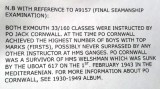 1959, 17TH MARCH - JOHN CHALLIS, EXMOUTH, 46 MESS, 160 CLASS, CONFIRMATION OF JACK CORNWALL'S STERLING WORK..jpg
