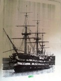 JOHN WHYTE - HMS GANGES AT MYLOR 1866 - POSSIBLY FROM THE MUSEUM ARCHIVE..jpg