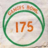 NO DATE - RONNIE POWELL, A BOWLING ALLEY BADGE, PRIZE FOR 5 STRIKES IN A ROW..jpg