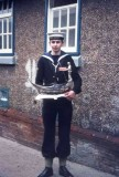 1975, 11TH FEBRUARY - PHIL FRIEND, WITH WHAT IS BELIEVED TO BE THE CAPTAIN'S TROPHY..jpg