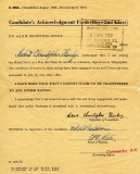1952, 6TH MAY - ROBERT HANLEY, ANSON DIVISION, JOINING DOCUMENT.