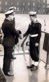 1972 - WILLIAM MACLENNAN - HAWKE, 3 MESS, 262 CLASS, RECEIVING SASH FOR LEADING BUGLER AND CROWN FOR BUGLE BADGE