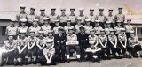 1972, 18TH JULY - STUART LUCAS, ANNEXE, ARK ROYAL, I AM FRONT RIGHT, Wm. MacLENNAN IS MIDDLE ROW 2ND FROM LEFT..jpg