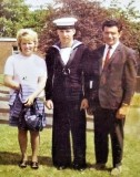 1972, 3RD OCTOBER - JOHN DAVID STIRLING, WITH MUM AND DAD ON PARENTS DAY 1973..jpg