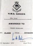 1973, 11TH SEPTEMBER - GRAHAM 'DUTCH' MULHOLLAND DUNCAN, 302 CLASS, JEMs PRIZE CERT.
