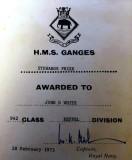 1973, 28TH FEBRUARY - JOHN WHITE, KEPPEL, 942 CLASS, TOP OF STEWARDS CLASS..jpg