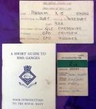 1975, 28TH OCTOBER - ALAN ABRAM, LEANDER, 952 CLASS, 22 MESS, JOINING PARAPHERNALIA. E.