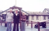 1976, 8TH JUNE - PETER FULLARTON, AFTER LAST PASSING OUT PARADE AT GANGES,DAD, MYSELF AND MUM ON QUARTERDECK..jpg