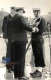 1976, JUNE - SIMON BAINES NO LONGER JOE MONK, RECEIVING CAPT.'s TROPHY AT FINAL DIVISIONS..jpg