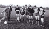 1961 - JOHN McPHERSON, FOOTBALL COACHING FROM IPSWICH TOWN PLAYERS CARDBERRY AND LEDBETTER..jpg