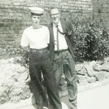 1963, 4TH JUNE - BRIAN FAULKNER, 02, 59 RECR. WITH MY FATHER ON PARENTS DAY..jpg