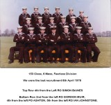 Fearless 153 Class 6 mess 1976, 6TH APRIL - FEARLESS DIVISION, 6 MESS, 153 CLASS, SOME NAMES BELOW IMAGE..jpg