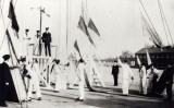 UNDATED - BOY SIGNALMEN, NOTE THE SEMAPHORE ARMS, CHIEF IN SINGLE BREASTED JACK AND P.O. IN DOUBLE BRESTED..jpg