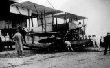 1911 - CDR. SAMSON'S AIRCRAFT BEING PUSHED BACK.JPG