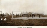 Post 1907 THE PLAYING FIELD - AREA LATER BECAME THE PARADE GROUND, BUILDINGS IN BACKGROUND BUILT BEFORE THE BOYS CAME ASHORE