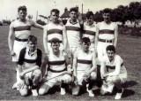 1958, 10TH JUNE - DAVE PARRY, 14 RECR., HAWKE, 47 MESS, 242 CLASS, PO TEL, ANSTEY, HAWKE SOFTBALL TEAM IN 1959.jpg