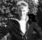 1958, 10TH JUNE - DAVE PARRY, 14 RECR., HAWKE, 47 MESS, 242 CLASS, PO TEL, ANSTEY, MYSELF AS A BOY TELEGRAPHIST - NEARLY
