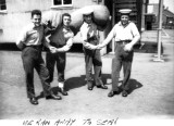 1958, 10TH JUNE - DAVE PARRY, 14 RECR., HAWKE, 47 MESS, 242 CLASS, PO TEL, ANSTEY, MARTIN, ROB, KC AND KEN OFF TO SEA