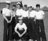 1958, 10TH JUNE - DAVE PARRY, 14 RECR., HAWKE, 47 MESS, 242 CLASS, PO TEL, ANSTEY, PEG, KC, KEV, DAVE, PETE AND JOHN.jpg