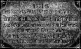 1916 - PLAQUE ON THE OUTSIDE OF THE PARENT'S HUT IN THE SICK QUARTERS.jpg