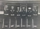1962, 3RD SEPTEMBER - BILL VINCE, RODNEY, 12 MESS, VINCE, PYE, FORD, BREWER, AVEYARD, PART OF THE ADMIRAL'S GUARD..jpg