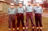 1972, SEPTEMBER - MARTIN O'FLYNN, BLAKE DIV., 8 MESS, Rob Base,Martin O'Flynn,Taff Welsh, Mike Powell.jpg