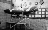 UNDATED - A BRITISH WW II SUBMARINE CANOE IN NELSON HALL..jpg