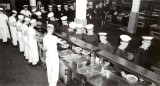 1966 – JUNIOR COOKS OF 87 RECR., SERVING A MEAL IN THE CMG.
