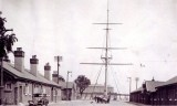 1937 - SHOWING THE ADMIN BLOCK ON THE LEFT OF THE QUARTERDECK..JPG