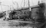1906 - SUBMARINES ALONGSIDE HMS GANGES, FORMALLY HMS MINATOUR..jpg