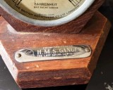 UNDATED - THERMOMETER MOUNTED IN WOOD FROM THE OLD ORIGINAL GANGES 2.jpg