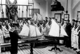 UNDATED - SEAMANSHIP SCHOOL, BOYS BEING GIVEN SAILING INSTRUCTIONS ON A LUGGER RIGGED CUTTER.jpg