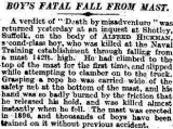 1928, 9TH OCTOBER - BOY HICKMAN, TIMES REPORT, ALFRED IS BURIED IN SHOTLEY CHURCHYARD.jpg