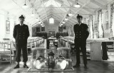 1964, 2ND JUNE - PETER COOPER, 68 RECR., KEPPEL, 2 MESS, PO JAKE JACOBSON ON LEFT AND PO BIGNALL ON THE RIGHT..jpg
