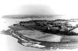 UNDATED - AN AERIAL PHOTO OF HMS GANGES WHEN THE TIDE WAS OUT.jpg