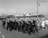 1976, 7TH JULY - MARCHING  TO THE CIVIC FAREWELL AT HARWICH TOWN HALL, A.