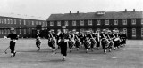 POST WW II - THE BAND, NOTE TWO DRUM MAJORS.jpg