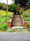 UNDATED - STEPS LEADING DOWN TO LOWER PLAYING FIELD AND LATER ENRIGHT BLOCK