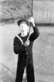 1952 - DOUGLAS CARR - BW HADLEY HOISTING THE FLAG